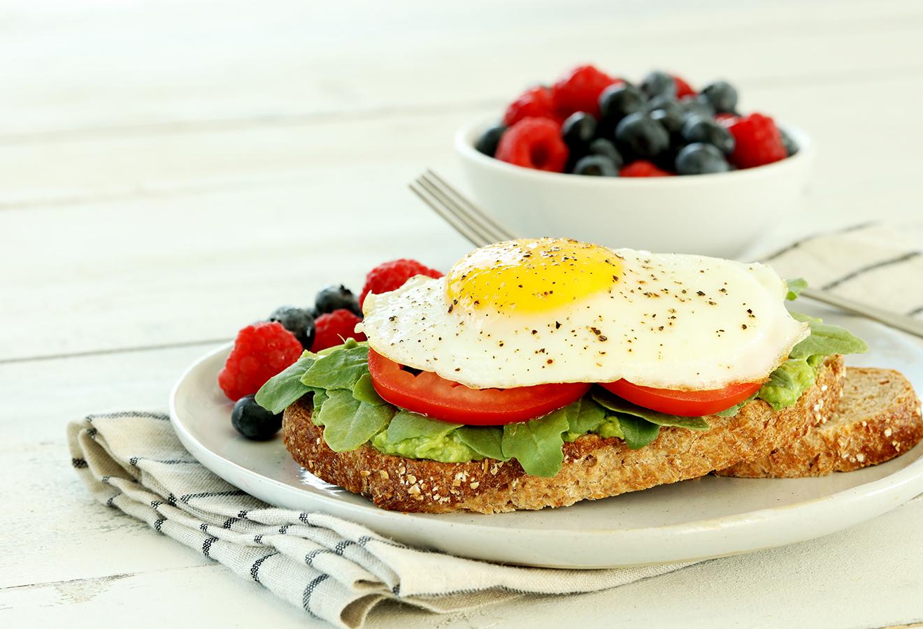 Open Faced Breakfast Egg Sandwich