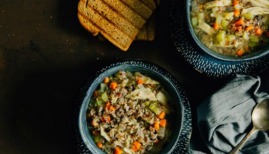 Simple Chicken and Wild Rice Soup