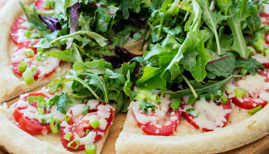 Salad-topped Pizza