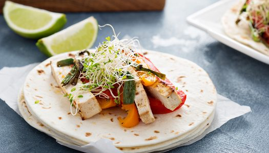 Tofu Tacos with Red Peppers