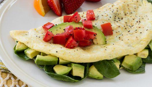 Salad-stuffed Omelette