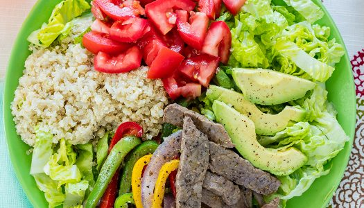 Steak Fajita Quinoa Bowl