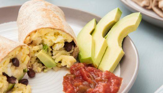 Avocado Breakfast Burritos