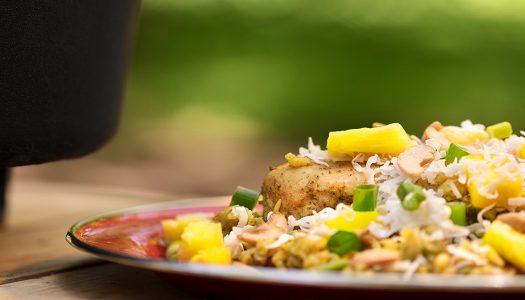 Dutch Oven Hawaiian Chicken Bake