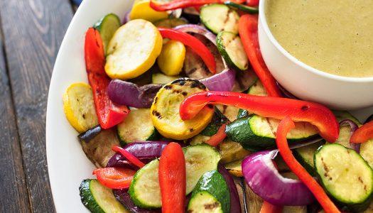 Basil-soaked Grilled Vegetables