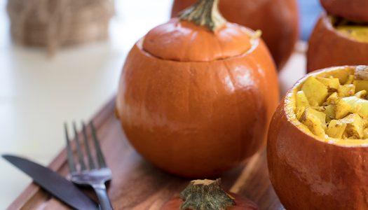 Curry-stuffed Pumpkins