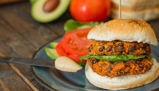 Day after Thanksgiving Sweet Potato Black Bean Burgers