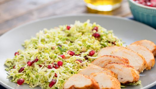 Shredded Brussels Sprouts Pomegranate Salad