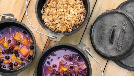 Mini Dutch Oven Mango Berry Crisps