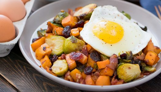 Brussels Sprouts Sweet Potato Breakfast Hash