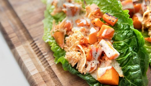 Whole30® Buffalo Chicken Lettuce Wraps