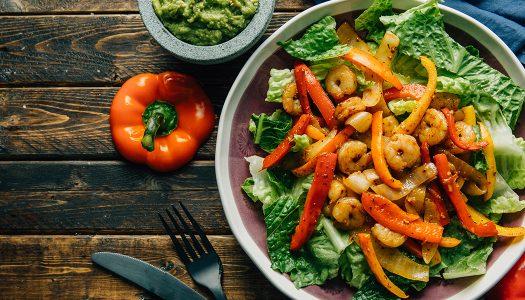 Keto Shrimp Fajita Salad