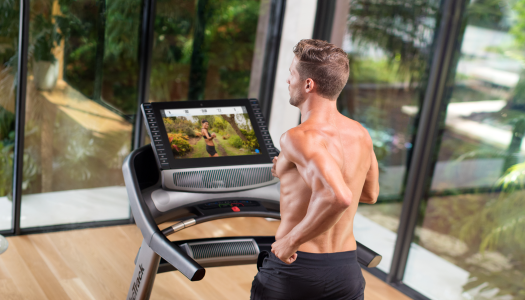 Competitor Running Tries iFit Coach