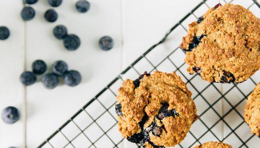 Nourish Blueberry Bran Protein Muffins