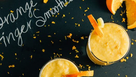 Nourish Vegan Orange Ginger Smoothie