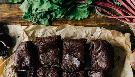Vegan Oreo®-crusted Beet Brownies