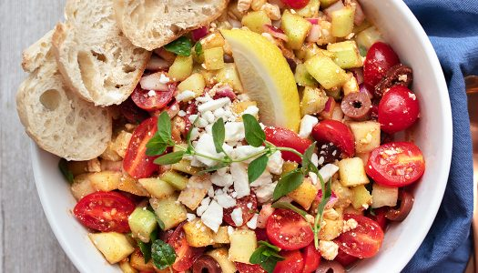 Mediterranean Cucumber Chopped Salad