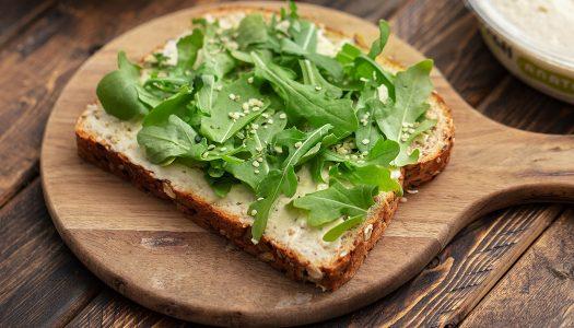 Hummus Arugula Toast