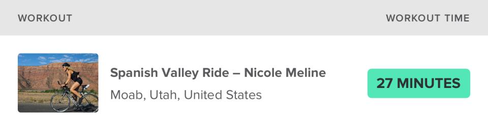 Spanish Valley Ride – Nicole Meline Moab, Utah