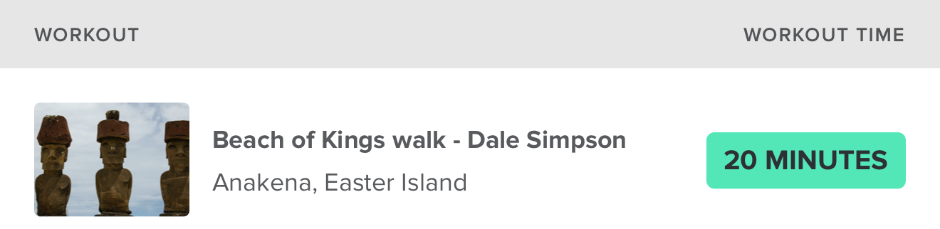 Beach of Kings Walk – Dale Simpson Anakena, Easter Island