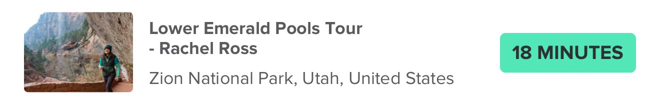 Lower Emerald Pools Tour – Rachel Ross Zion National Park, Utah