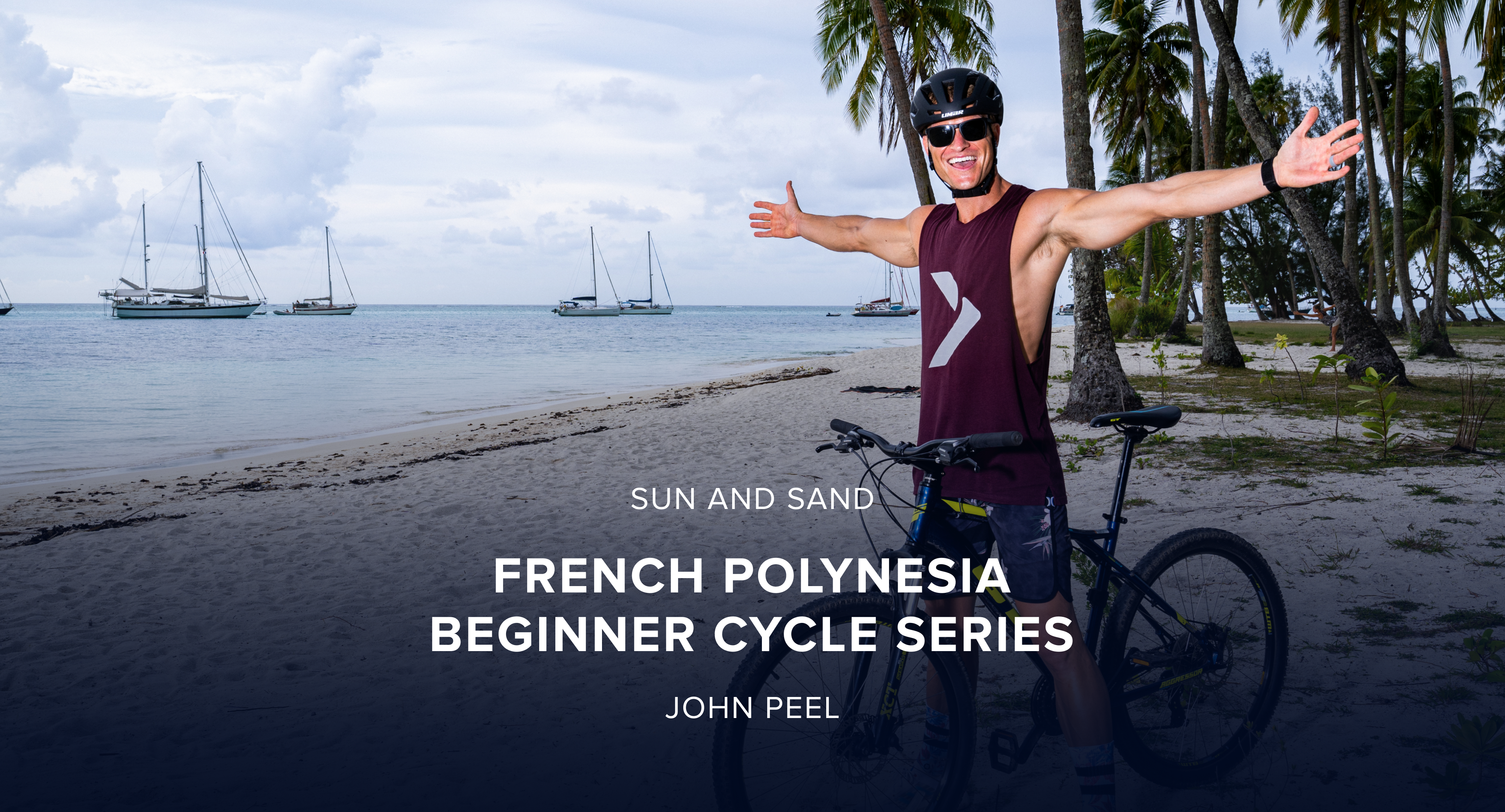 iFit March Sun and Sand Bike Challenge: French Polynesia Beginner Cycle Workout Series with Trainer John Peel