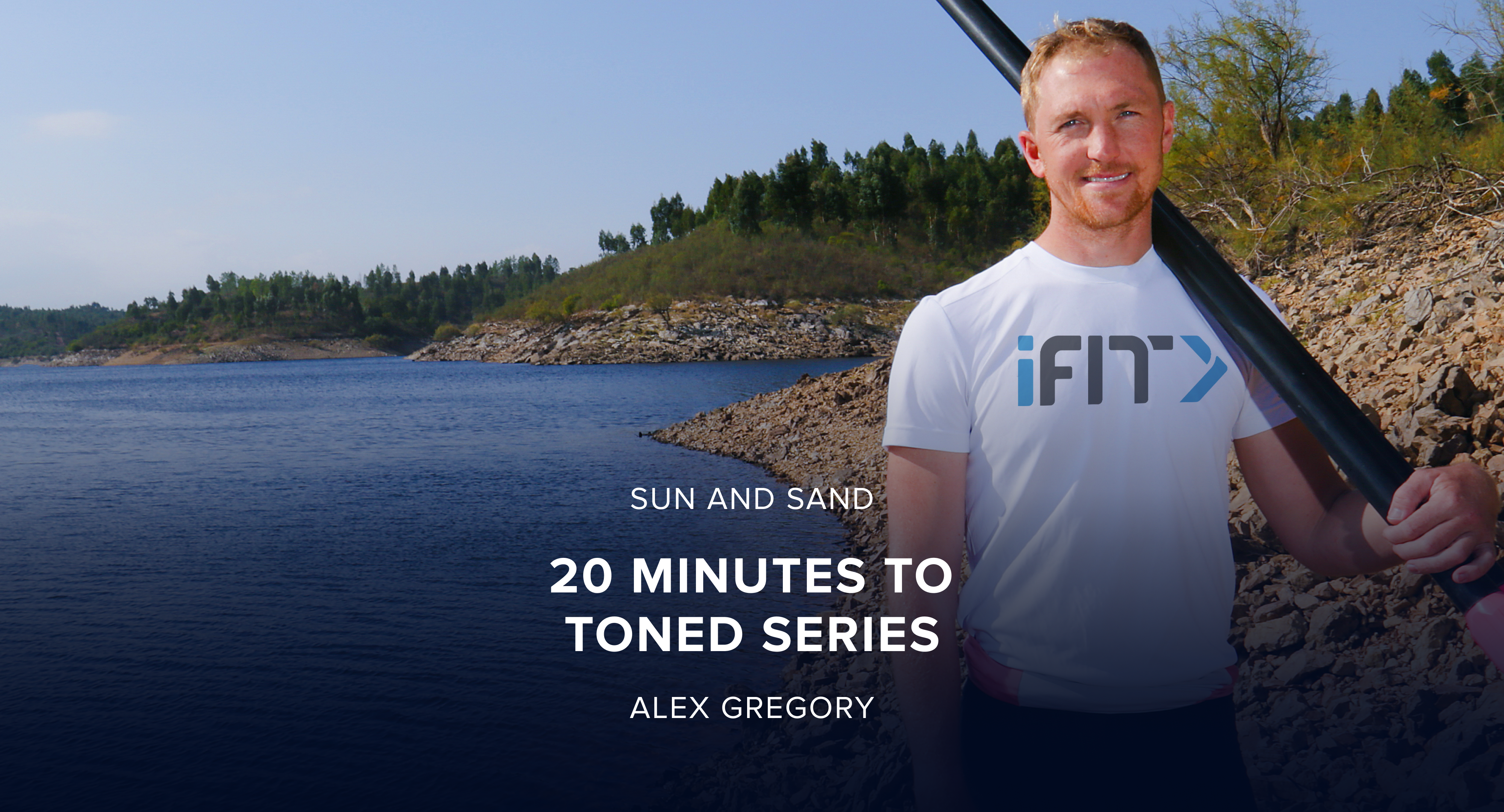 iFit March Sun and Sand Rower Challenge: 20 minutes to Toned Rower Workout Series with Trainer Alex Gregory