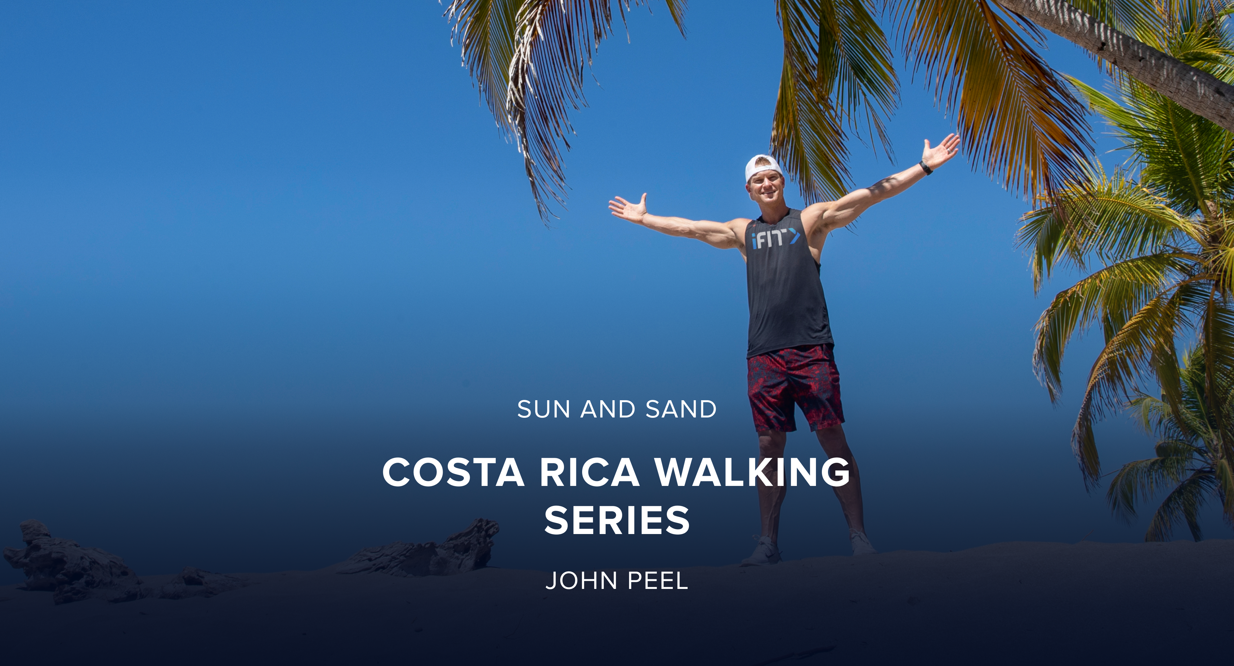 iFit March Sun and Sand Treadmill and Elliptical Challenge: Costa Rica Walking Workout Series with Trainer John Peel