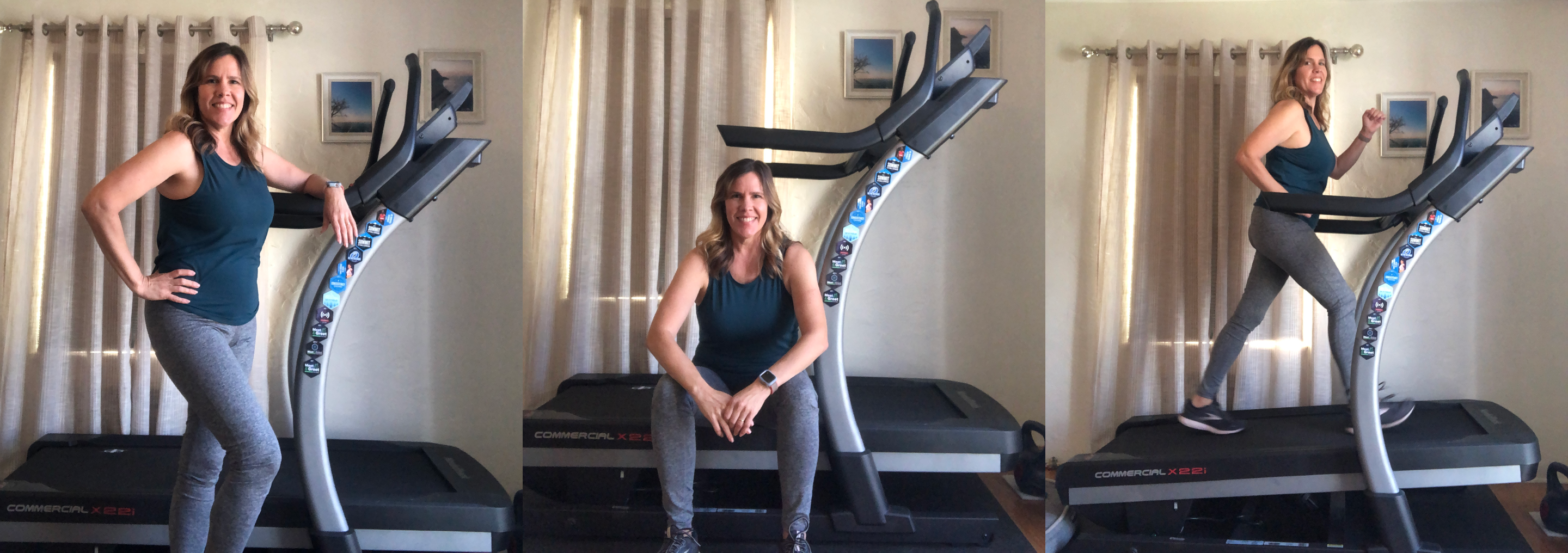 iFit Member Amy Smith working out on her NordicTrack X22i treadmill