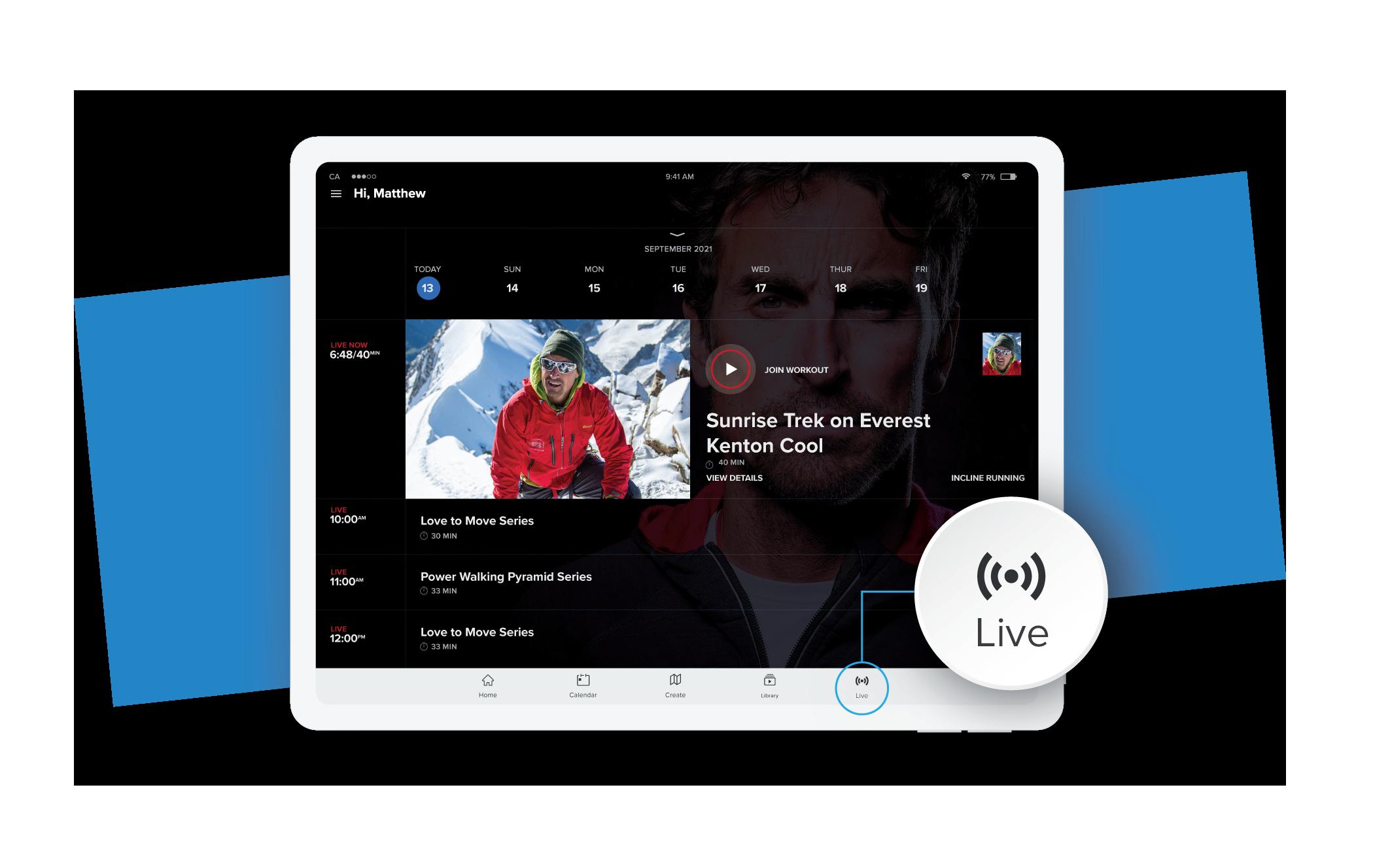 iFit Sunrise Trek on Everest: Live Workout