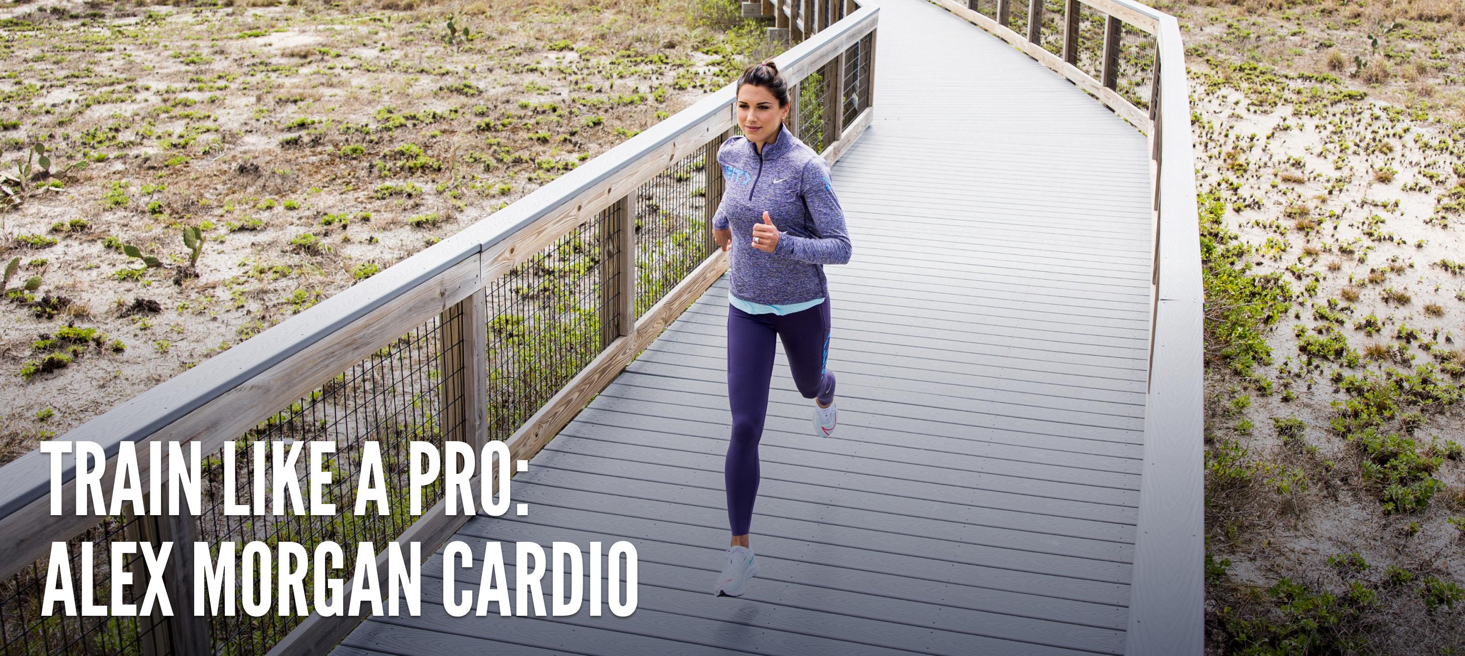 iFit Train Like a Pro: Alex Morgan cardio workouts
