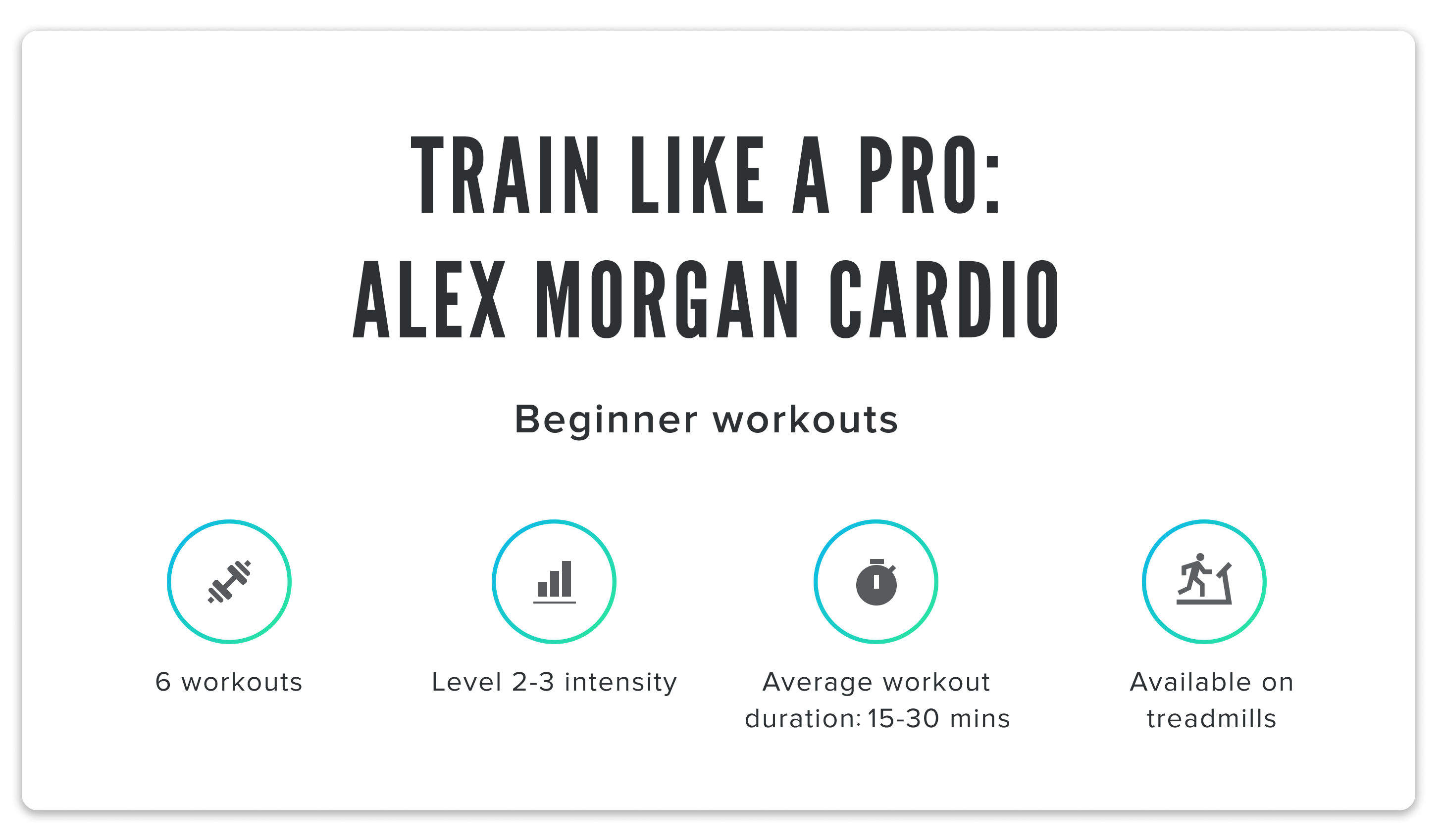 iFit Train Like a Pro: Alex Morgan cardio classes