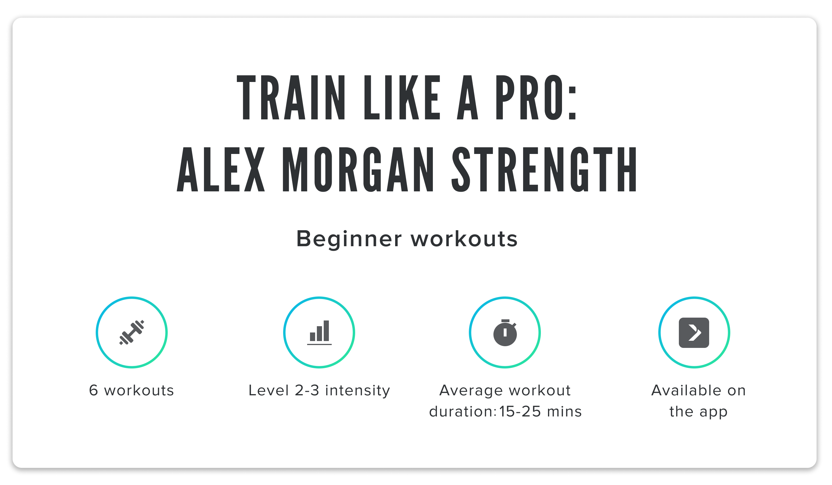 iFit Train Like a Pro: Alex Morgan strength classes