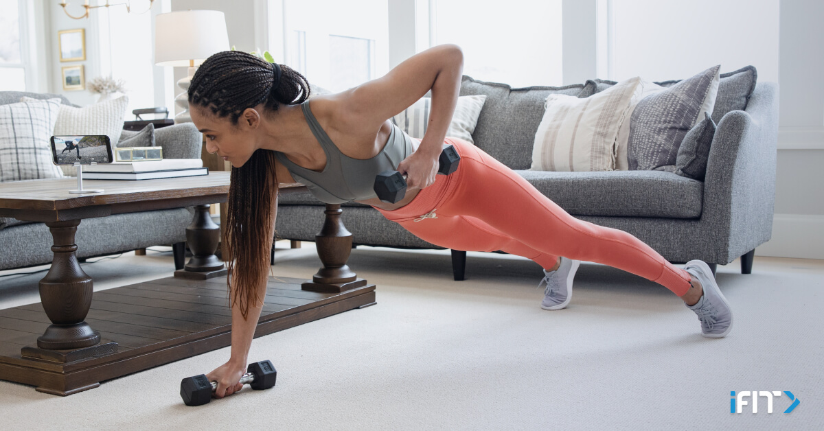 iFit at-home chest exercises