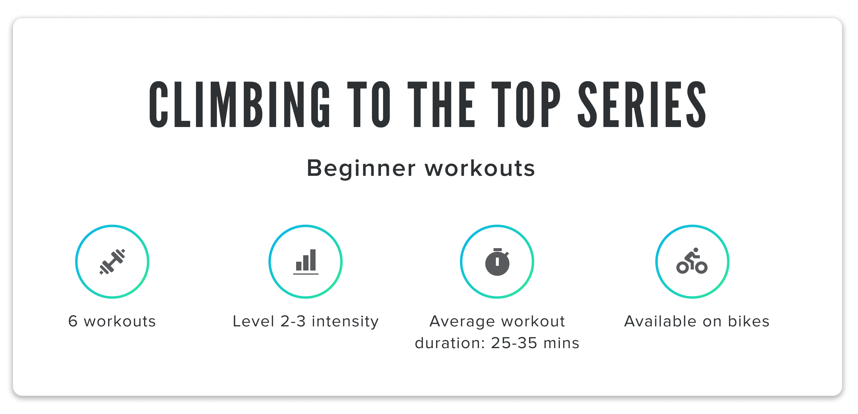 iFit Series Feature: Climbing to the Top bike workouts