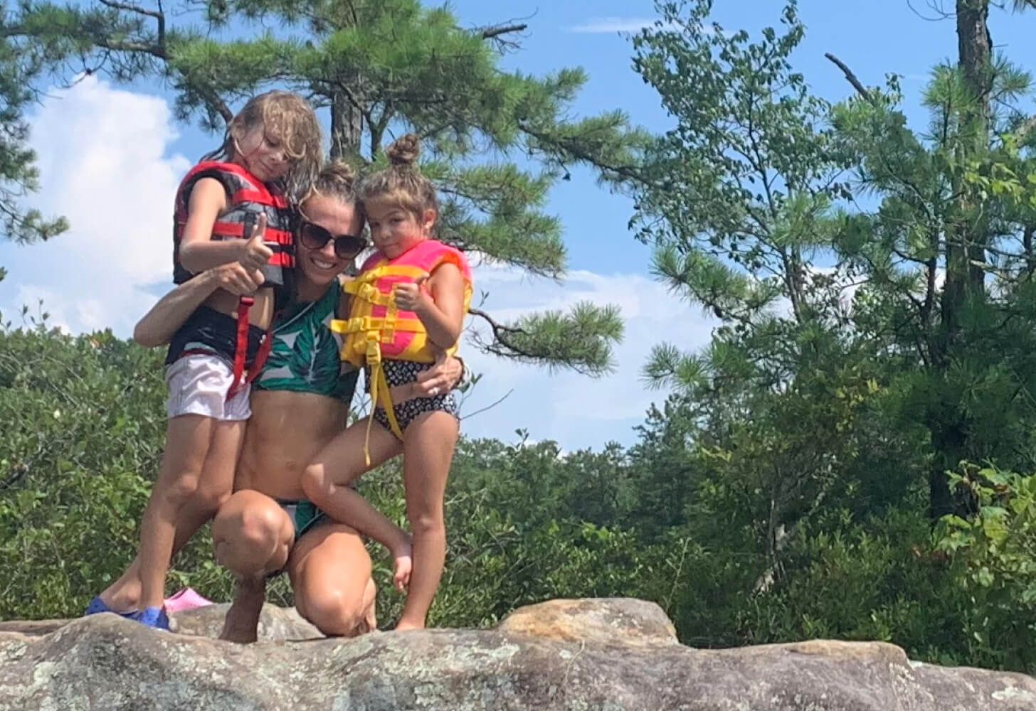 iFIT Trainer Elyse Miller and her kids go on outdoor adventures