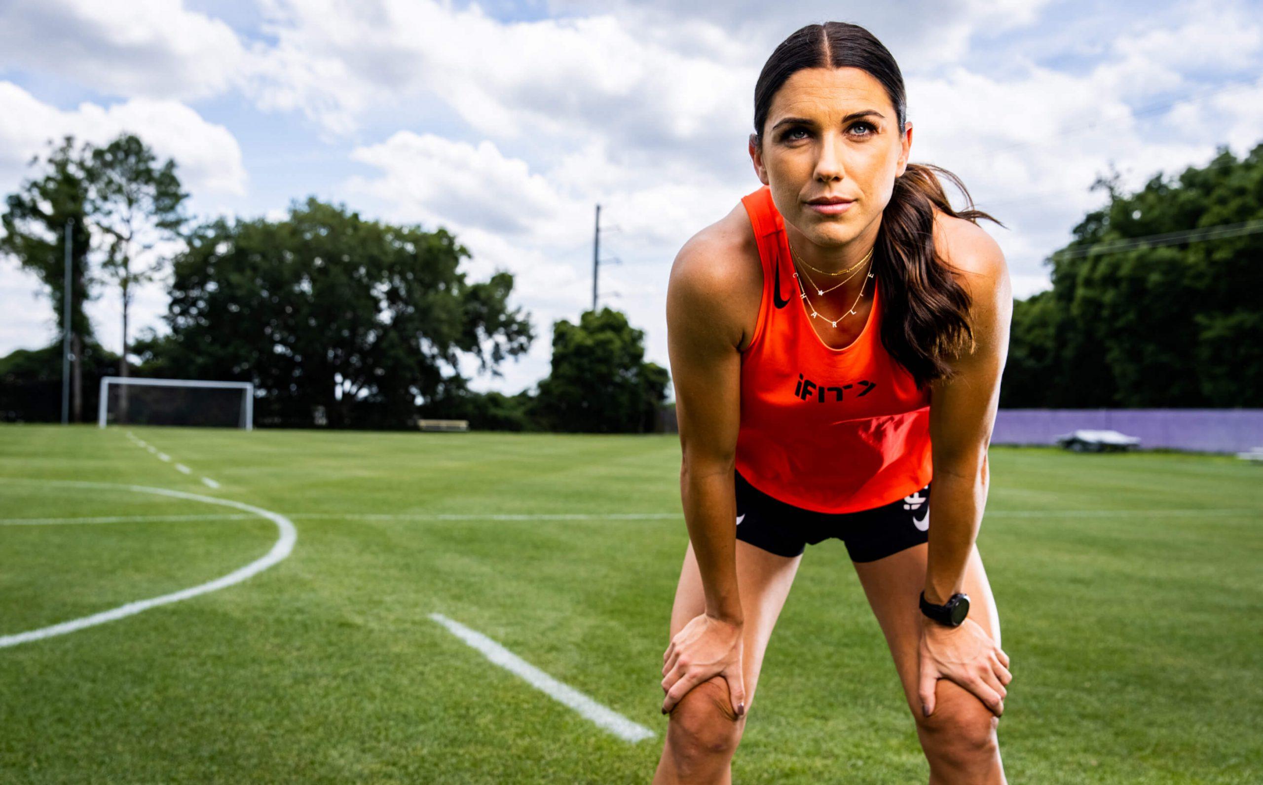 iFIT Trainer Alex Morgan coaches a cardio workout
