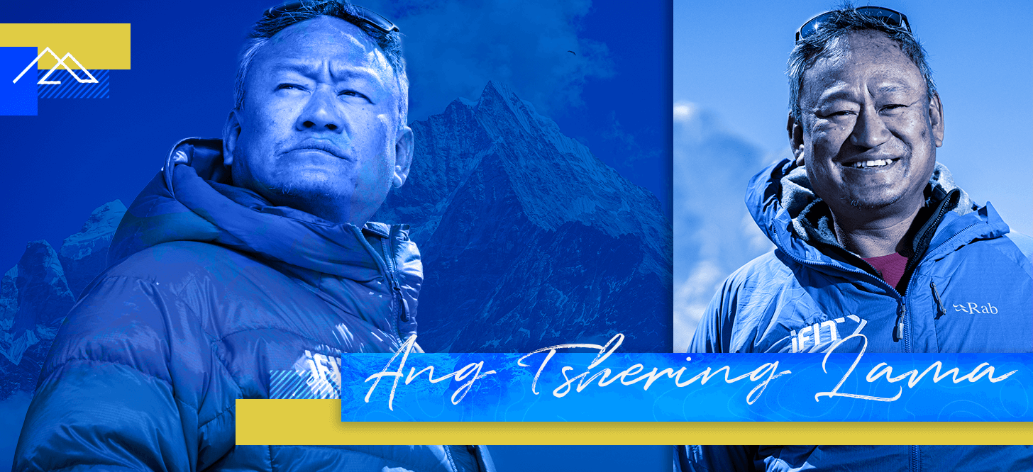 Ang Tshering Lama coaches one of the walking workouts in the iFIT Everest: A Trek to Base Camp Series