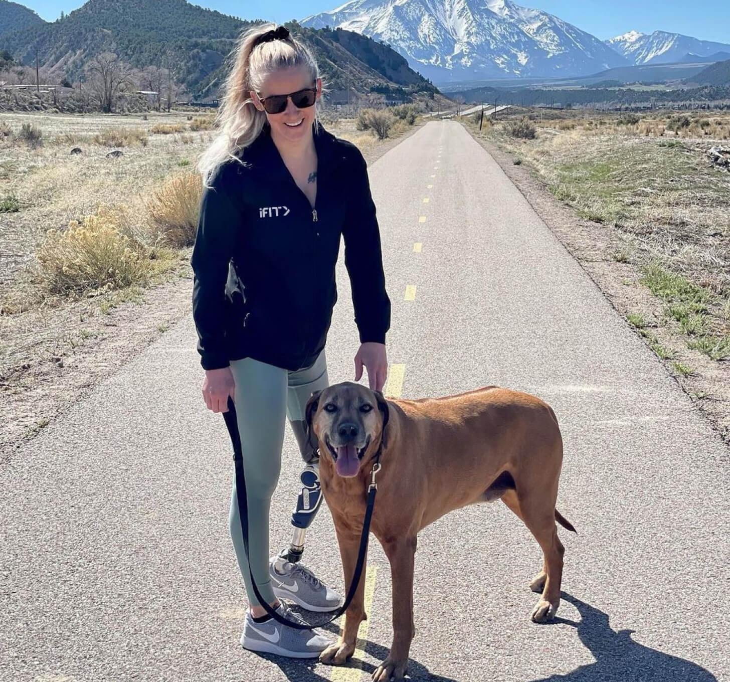 iFIT Trainer Kirstie Ennis walking workout