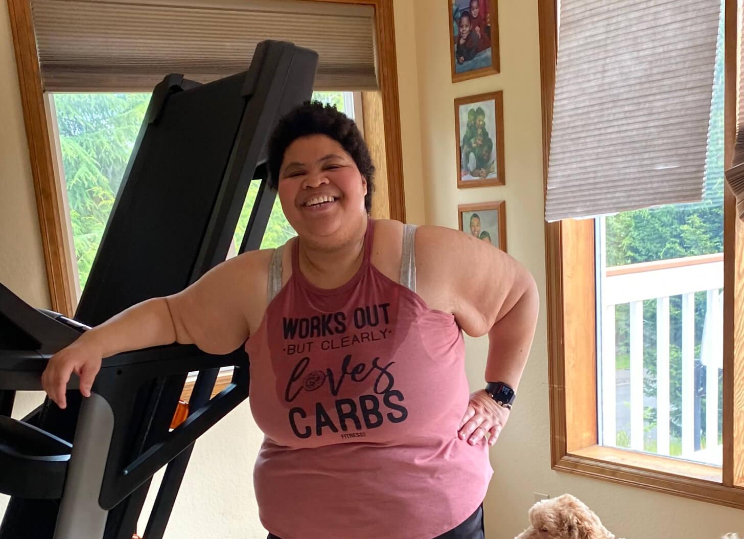iFIT Member Enjoli Carter does a walking workout