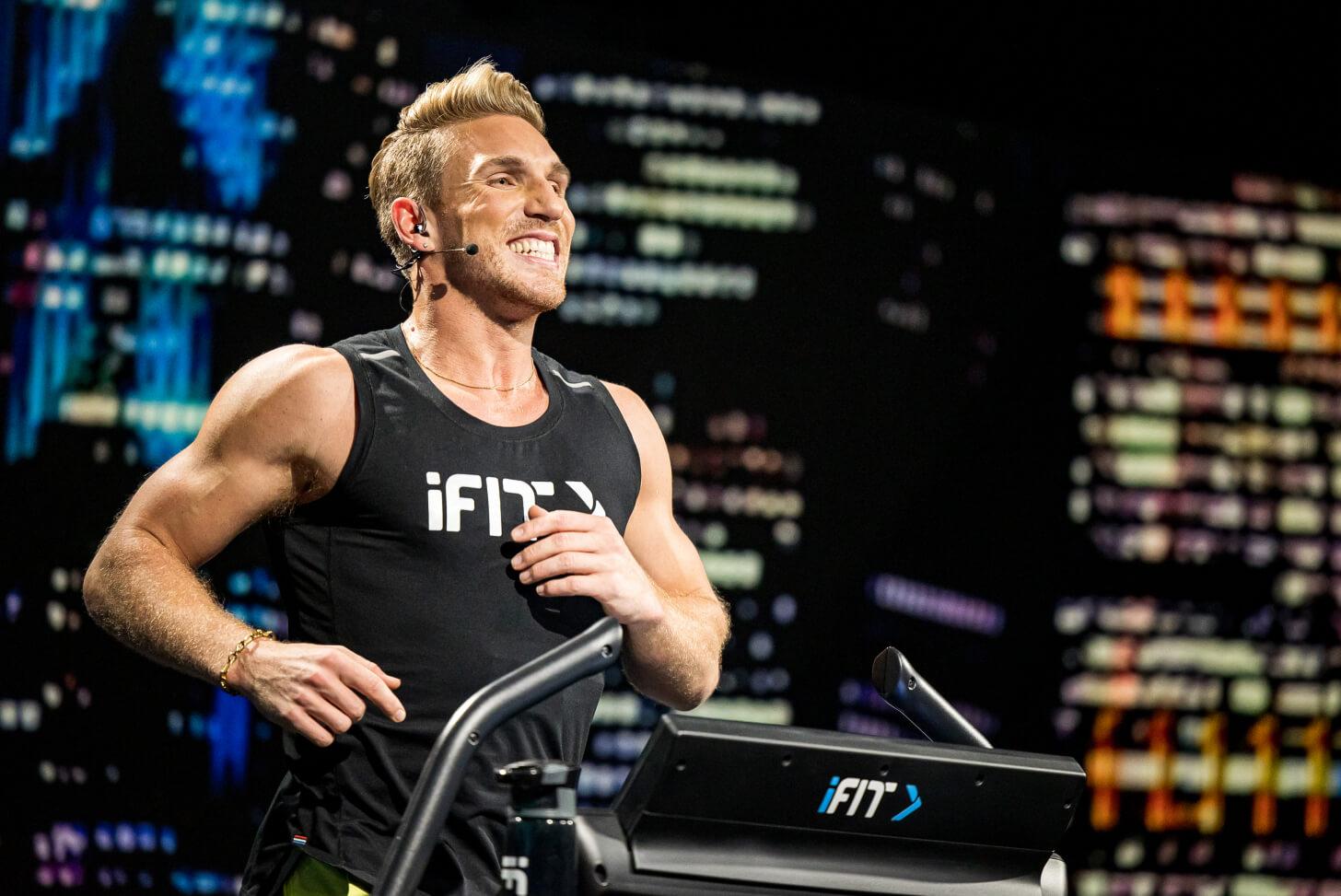 iFIT Trainer Jesse Corbin running workout