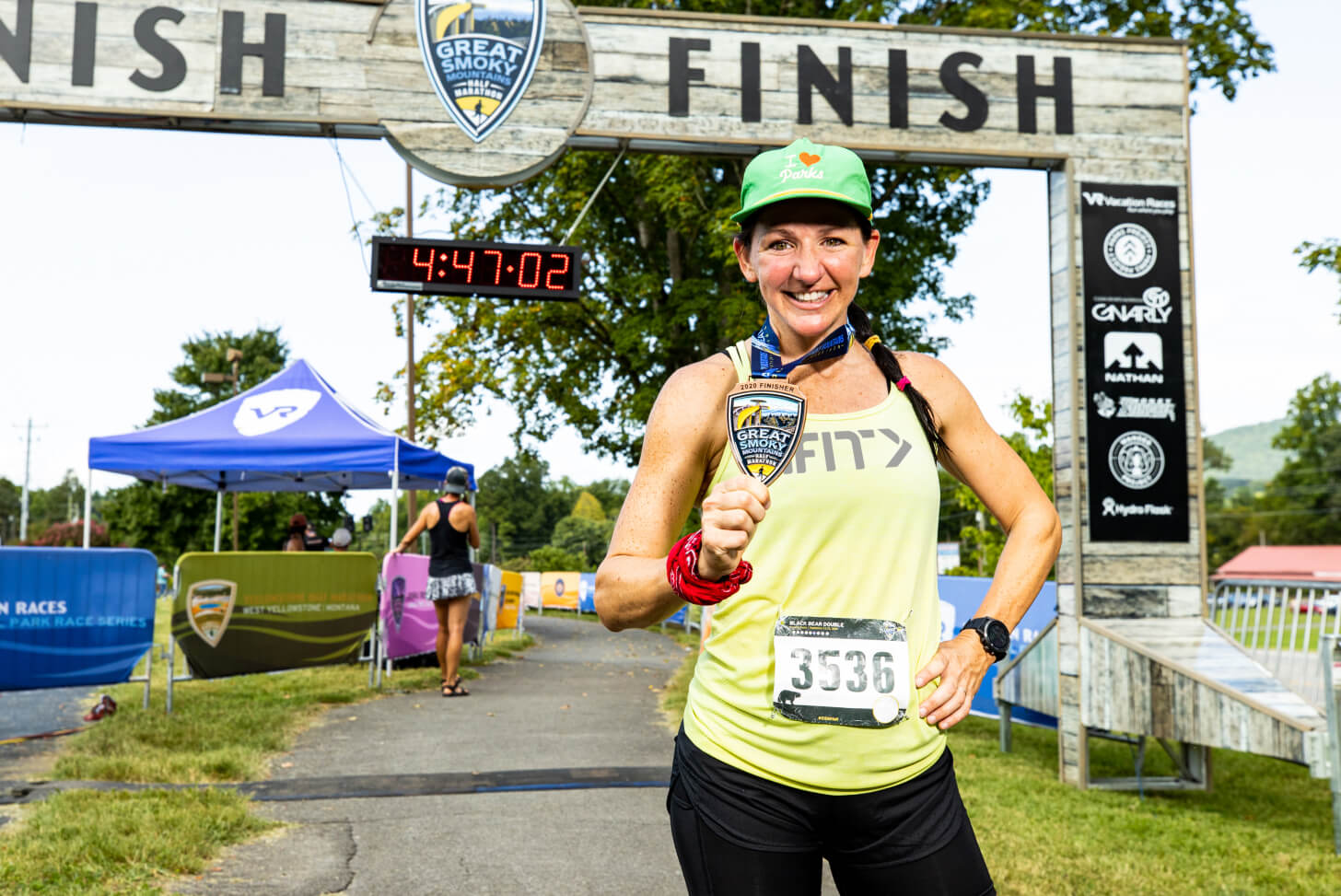 iFIT Trainer Sally McRae coaches a race