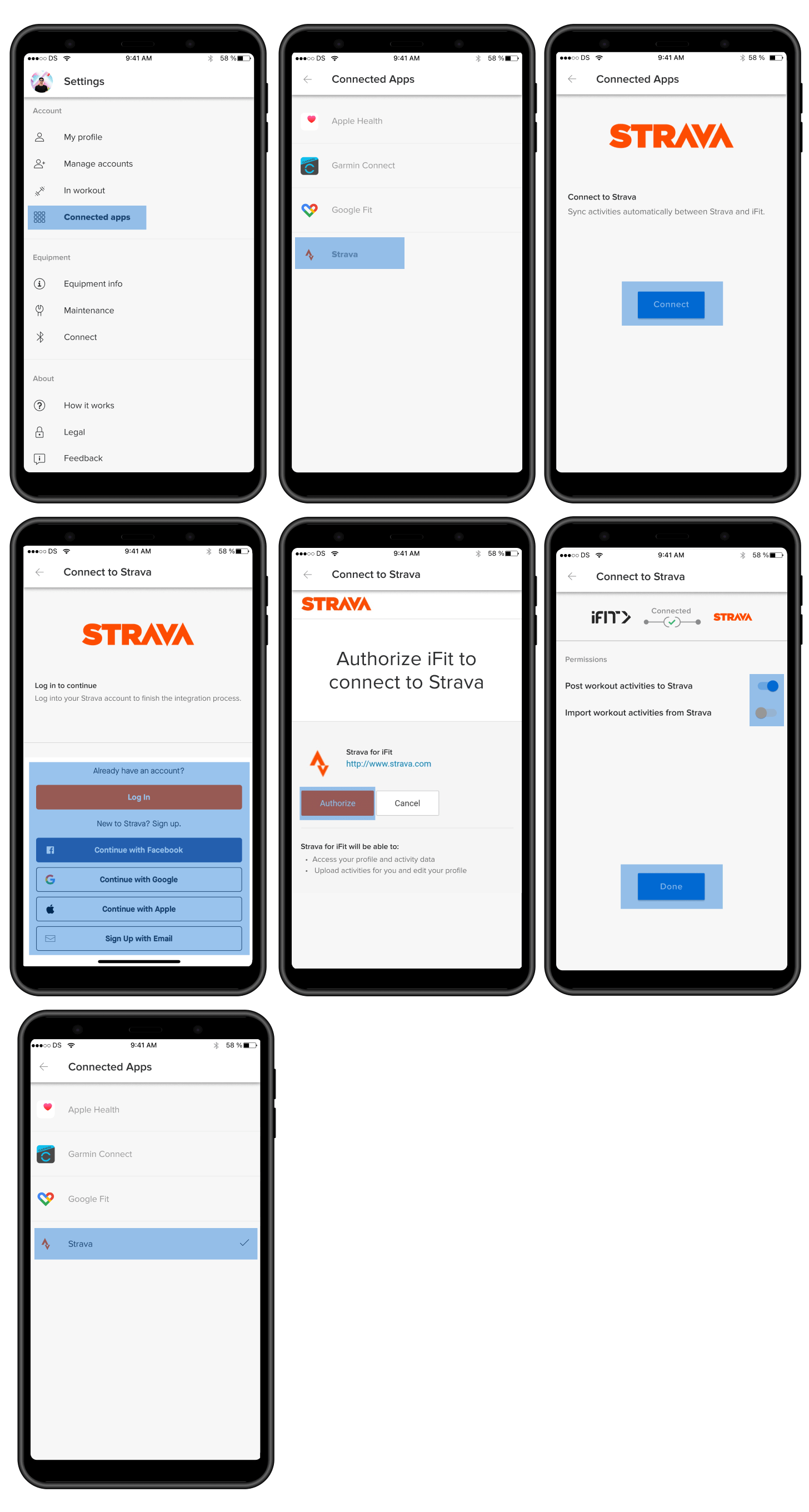 How to connect your iFIT and Strava accounts