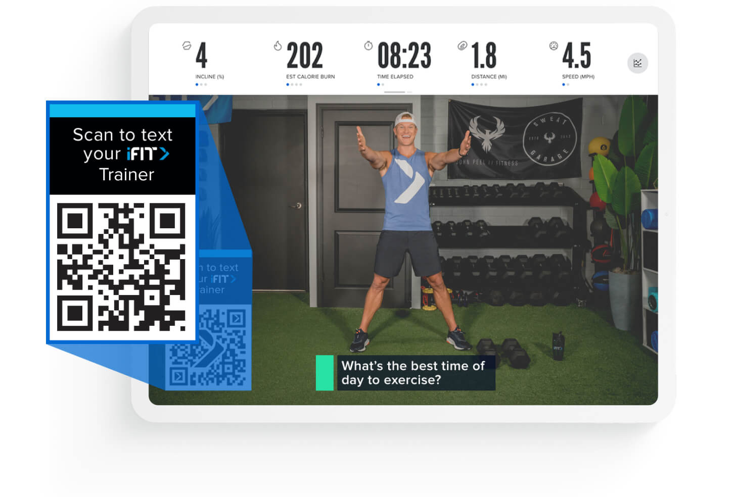 iFIT live workout waiting room