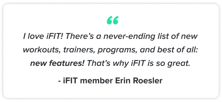 iFIT Member Erin Roesler - quote