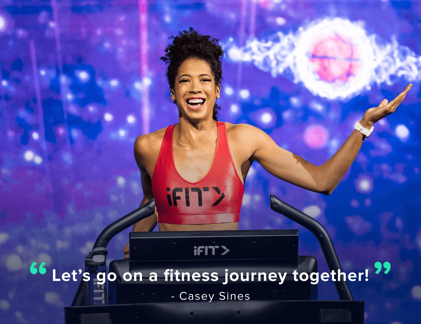 iFIT Trainer Casey Sines quote