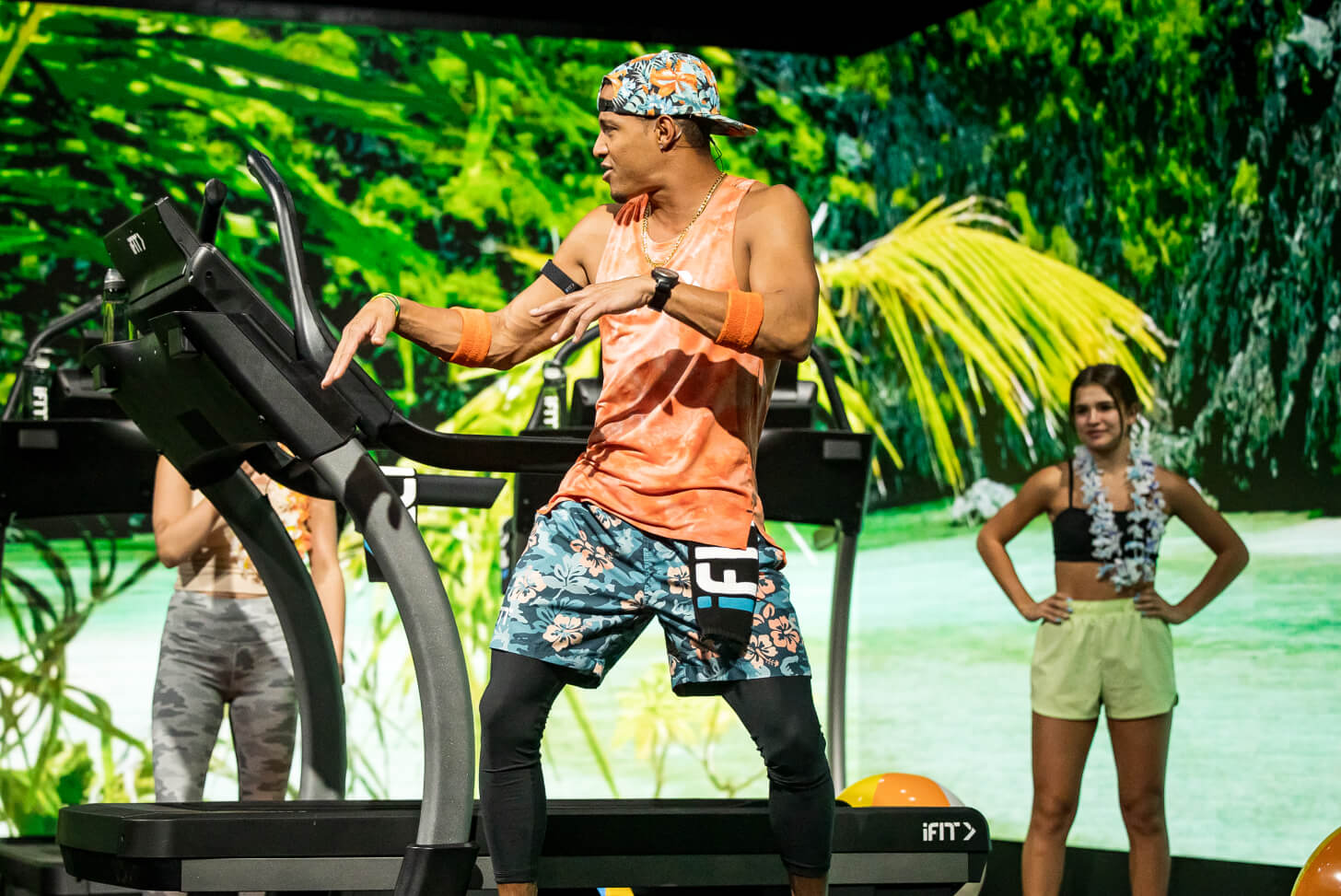 iFIT Trainer Jonnie Gale coaches a treadmill workout